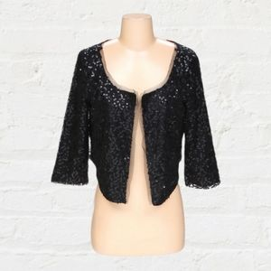 AMERICAN EAGLE sequin 3/4 sleeve cropped c…